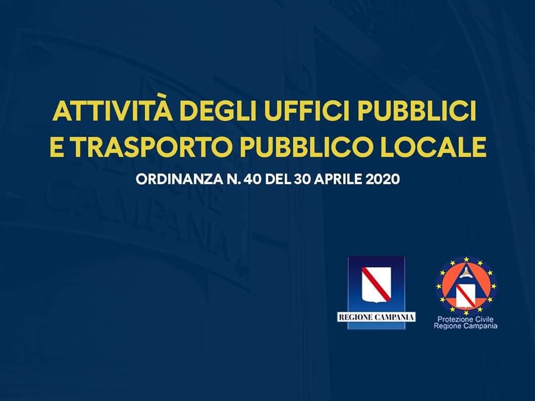 Coronavirus in Campania, ordinanza su trasporto pubblico e ...